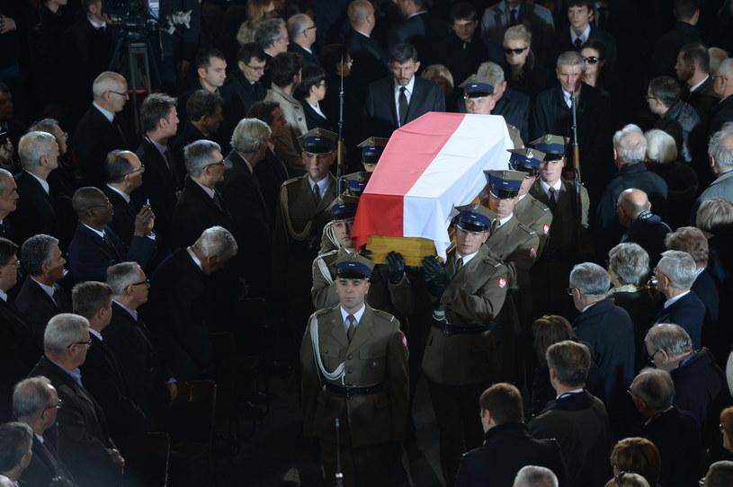 Uroczystości pogrzebowe byłego premiera Tadeusza Mazowieckiego /Jacek Turczyk /PAP
