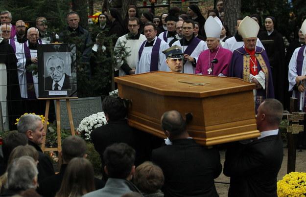 Uroczystości pogrzebowe byłego premiera Tadeusza Mazowieckiego /Radek Pietruszka /PAP