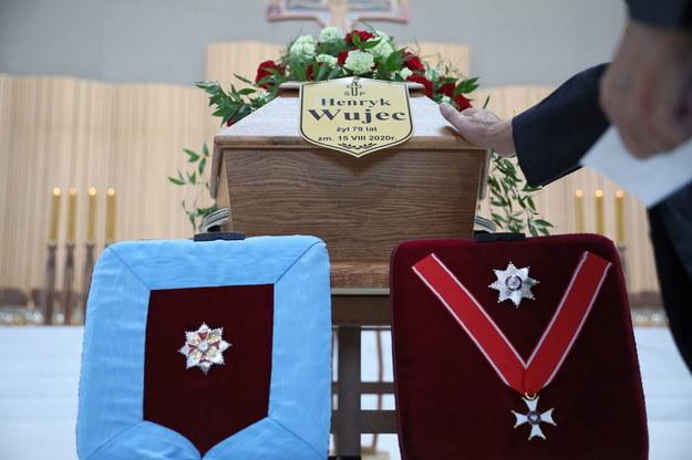 Uroczystości pogrzebowe Henryka Wujca w Świątyni Opatrzności Bożej w Warszawie /Leszek Szymański /PAP