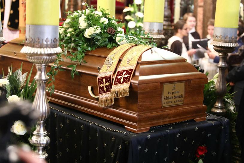 Uroczystości pogrzebowe ks. Zdzisława Sochackiego /Beata Zawrzel/REPORTER /Reporter