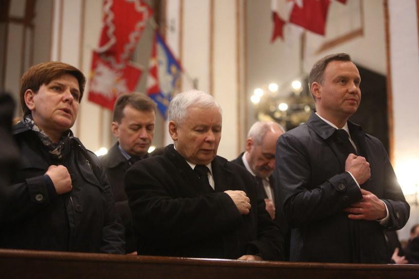 Uroczystości pogrzebowe posła Artura Górskiego /Leszek Szymański /PAP