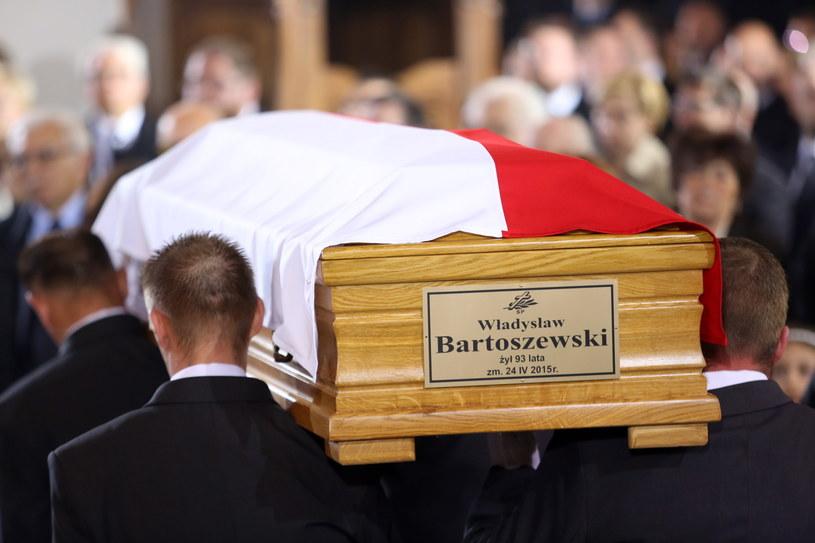Uroczystości pogrzebowe profesora Władysława Bartoszewskiego /Leszek Szymański /PAP