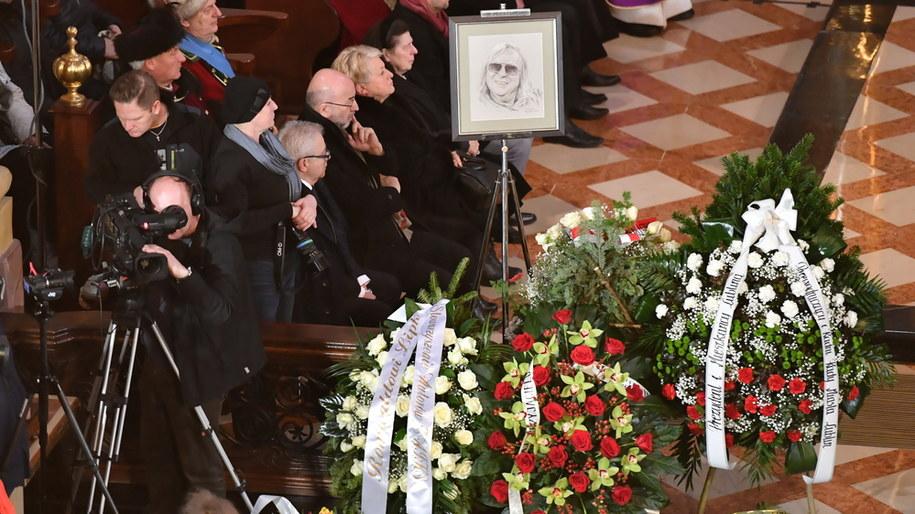 Uroczystości pogrzebowe Romualda Lipki /Wojtek Jargiło /PAP
