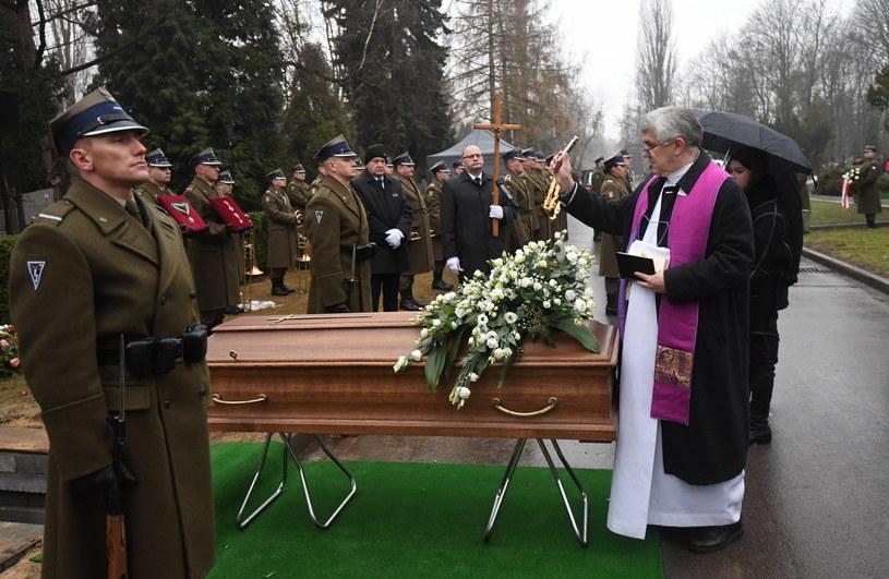 Uroczystości pogrzebowe Tadeusza Chmielewskiego na Powązkach Wojskowych w Warszawie /Bartłomiej Zborowski /PAP