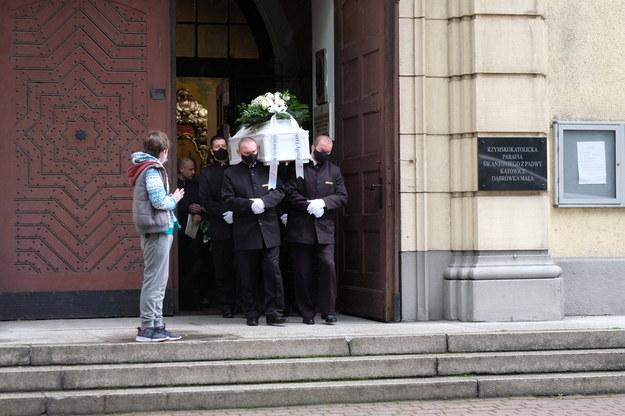Uroczystości pogrzebowe zamordowanego 11-letniego Sebastiana /Andrzej Grygiel /PAP
