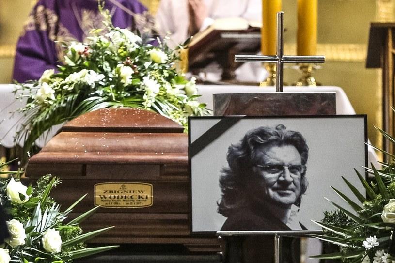 Uroczystości pogrzebowe Zbigniewa Wodeckiego /Beata Zawrzel /Reporter