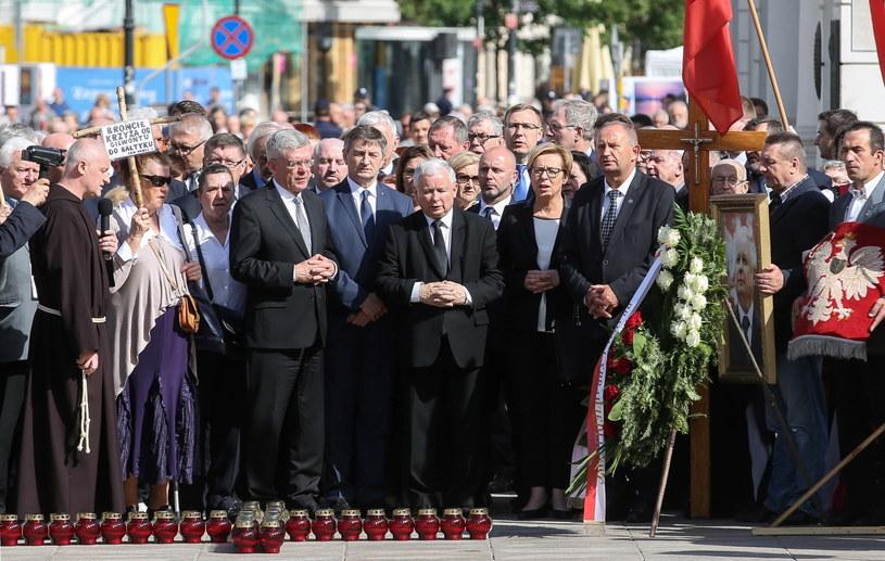 Uroczystości przed Pałacem Prezydenckim /Rafał Guz /PAP