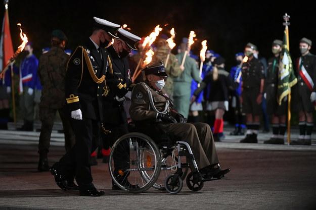 Uroczystości przed Pomnikiem Obrońców Wybrzeża na Westerplatte / Adam Warżawa    /PAP