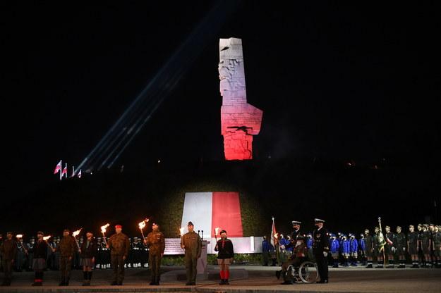 Uroczystości przed Pomnikiem Obrońców Wybrzeża na Westerplatte / Adam Warżawa    /PAP/EPA