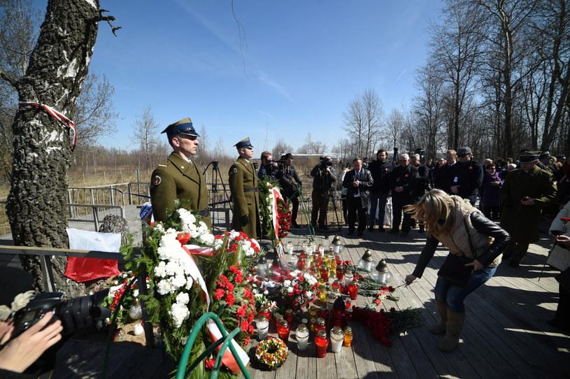 Uroczystości upamiętniające katastrofę samolotu TU-154M /Radek Pietruszka /PAP