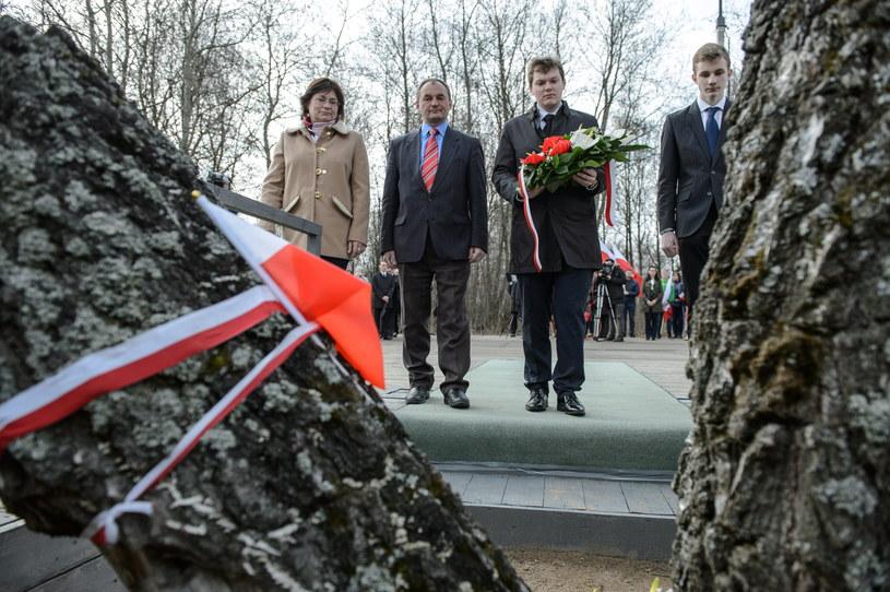 Uroczystości w miejscu katastrofy prezydenckiego tupolewa /Wojciech Pacewicz /PAP
