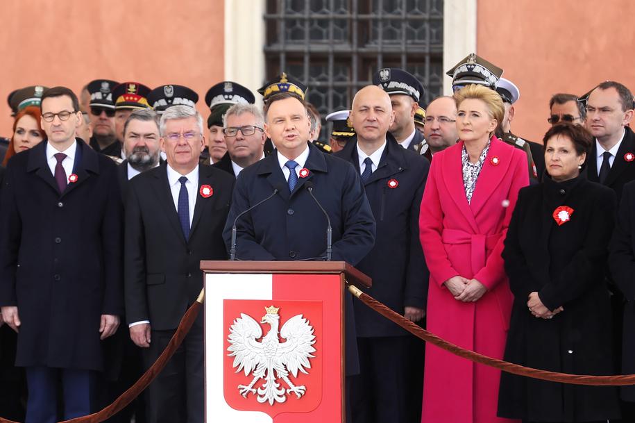 Uroczystości z okazji Święta Konstytucji 3 Maja na Placu Zamkowym /Rafał Guz /PAP