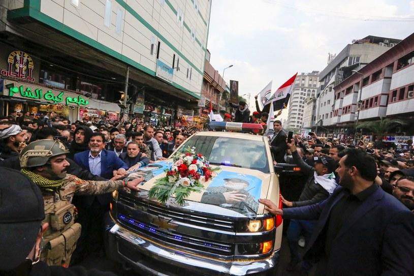 Uroczystości żałobne ku czci Sulejmaniego /AFP