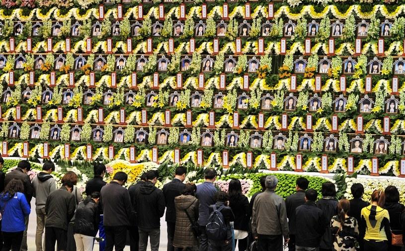 Uroczystości żałobne ofiar katastrofy promu /AFP