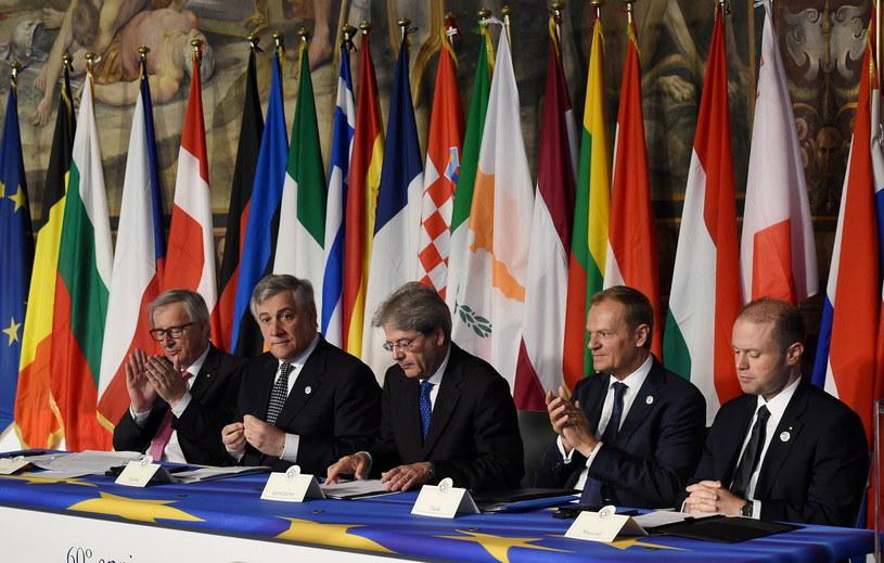 Uroczysty szczyt UE w Rzymie w 60. rocznice podpisania Traktatów Rzymskich /Radek Pietruszka /PAP/EPA