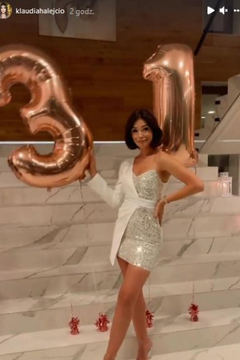 urodziny Klaudii Halejcio, fot. https://www.instagram.com/klaudiahalejcio/ /Instagram