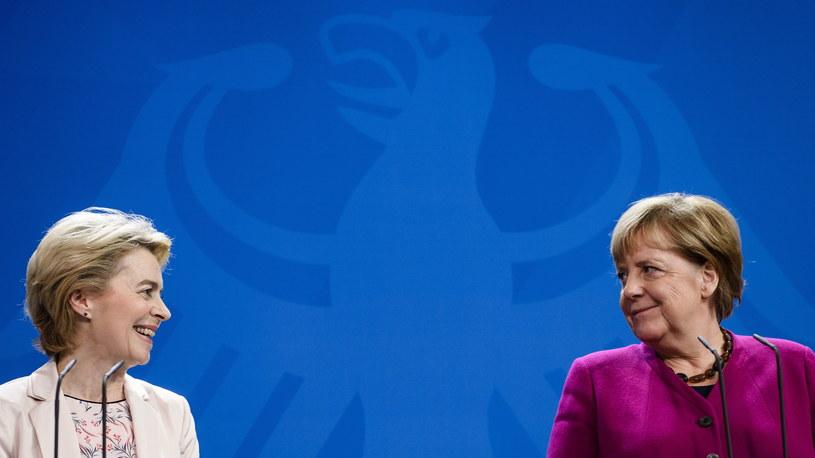 Ursula von der Leyen i Angela Merkel /Clemens Bilan /PAP/EPA