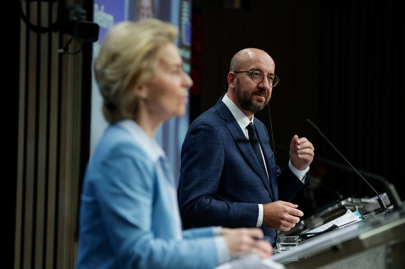 Ursula von der Leyen i Charles Michel /  STEPHANIE LECOCQ / POOL / AFP /AFP