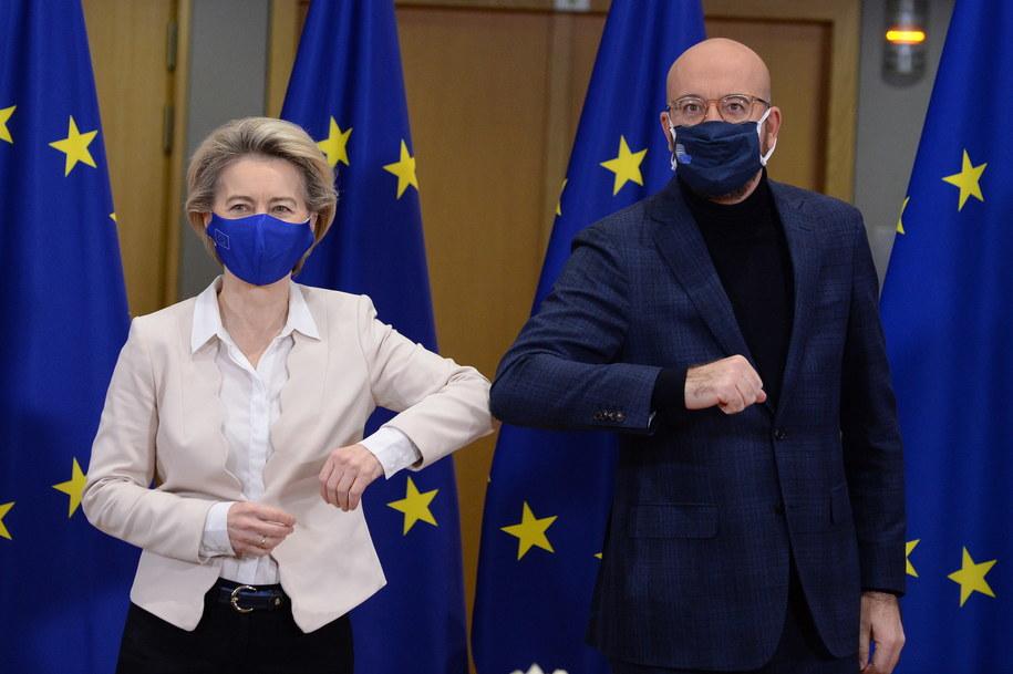Ursula von der Leyen i Charles Michel /JOHANNA GERON / POOL /PAP/EPA