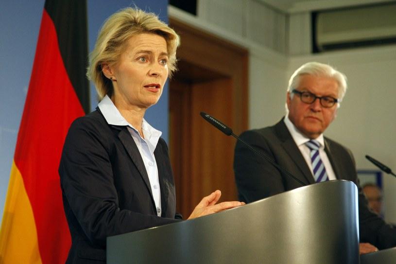 Ursula von der Leyen, minister obrony Niemiec (na pierwszym planie). /AFP