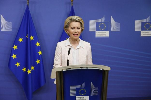 Ursula von der Leyen poinformowała dziś o postępach w negocjacjach /JULIEN WARNAND / POOL /PAP/EPA