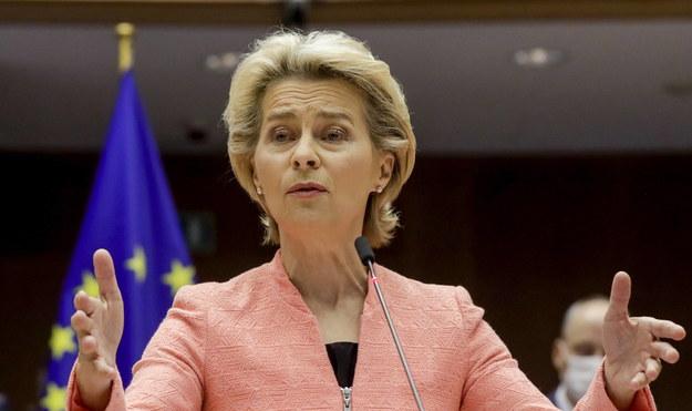 Ursula Von Der Leyen, szefowa Komisji Europejskiej /OLIVIER HOSLET /PAP/EPA