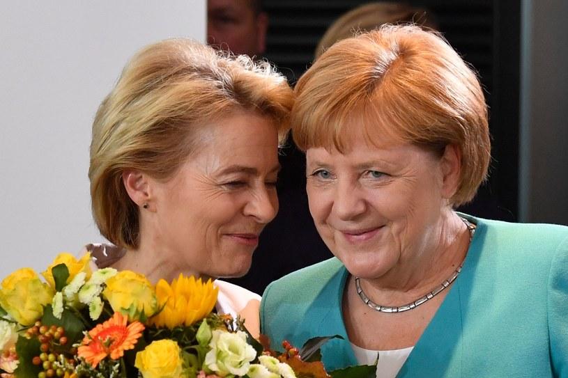 Ursula von der Leyen żegnała się w środę z rządem Angeli Merkel /AFP