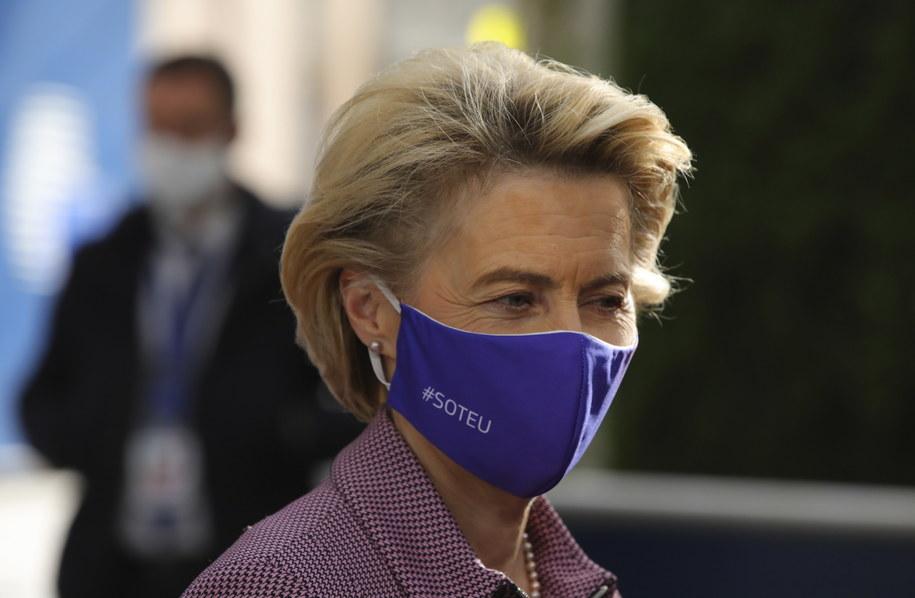 Ursula von der Leyen /OLIVIER MATTHYS / POOL /PAP/EPA