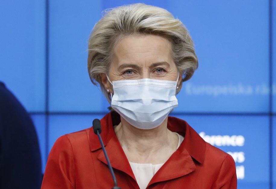 Ursula von der Leyen /OLIVIER HOSLET / POOL /PAP/EPA