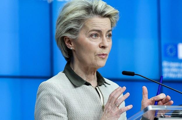 Ursula von der Leyen /KENZO TRIBOUILLARD / POOL /PAP/EPA