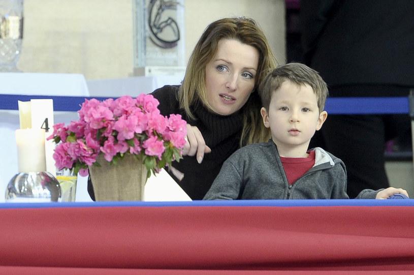 Urszula Chincz z synem /AKPA