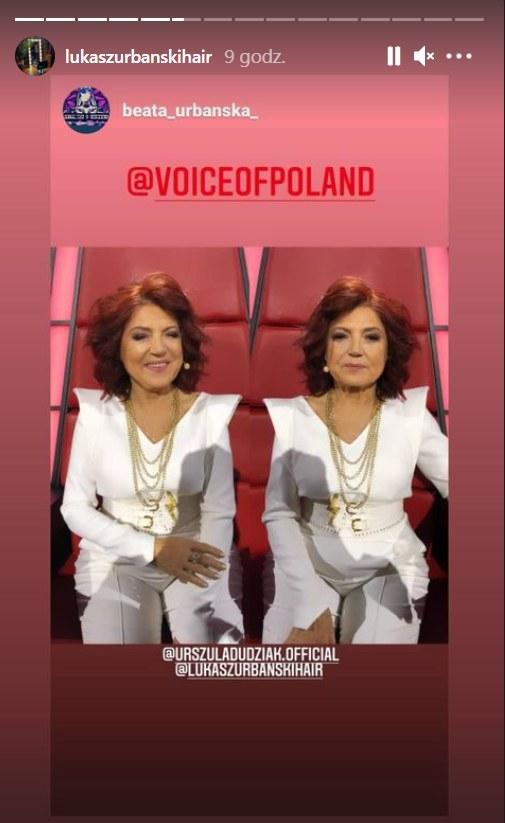 """Urszula Dudziak podczas finałowego odcinka """"The Voice of Poland"""" /Instagram /materiał zewnętrzny"""