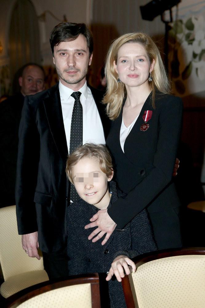 Urszula Grabowska z mężem Adrianem i synem Antonim /Damian Klamka /East News