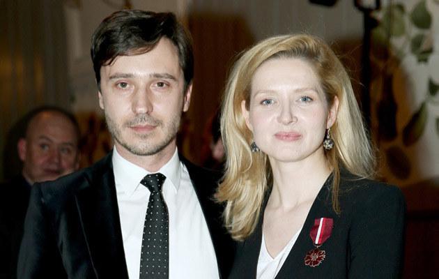 Urszula Grabowska z mężem Adrianem /Damian Klamka /East News