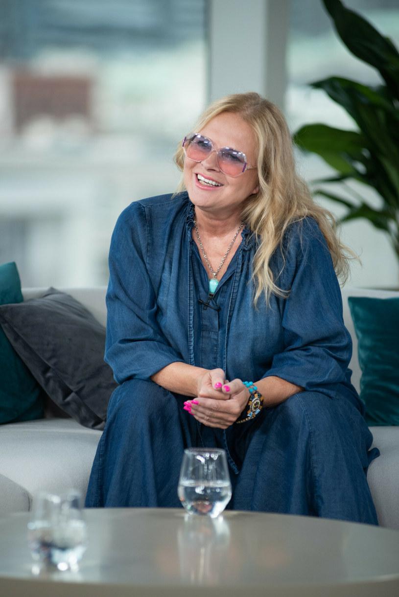 Urszula Kasprzak w jeansowej sukience /Justyna Rojek /East News