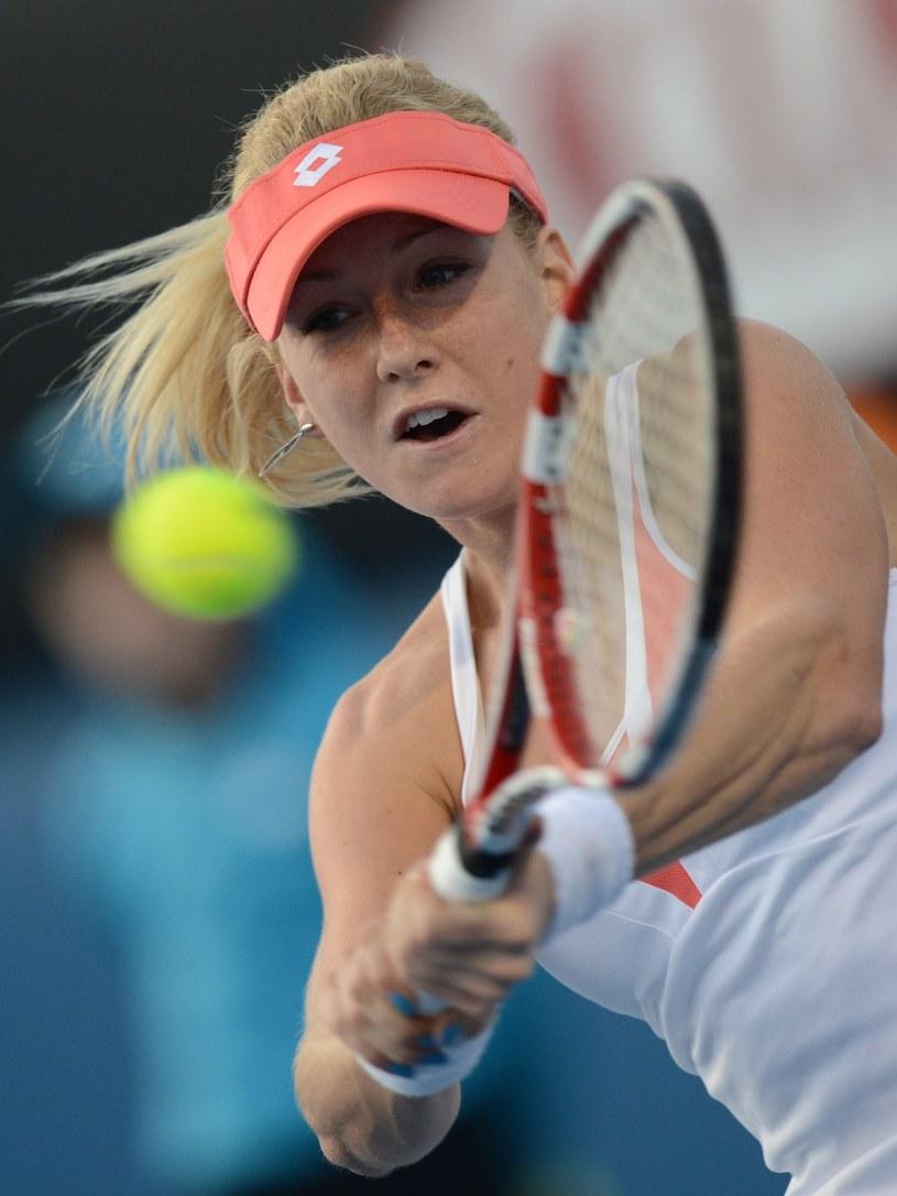 Urszula Radwańska nie dała rady w meczu z Julią Glushko. /AFP