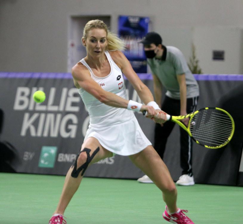 Urszula Radwańska przegrała mecz o udział w turnieju WTA w Nur-sułtanie /Lucyna Nenow /East News