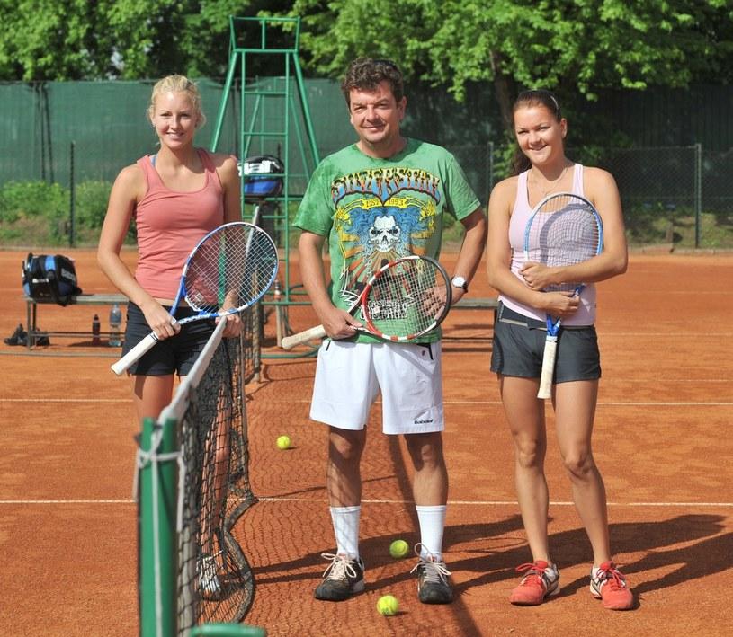 Urszula Radwańska, Robert Radwański, Agnieszka Radwańska /Michał Klag /Reporter