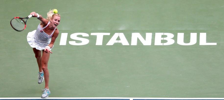 Urszula Radwańska w półfinale turnieju w Stambule /SEDAT SUNA /PAP/EPA