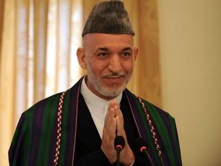 Urzędujący prezydent Hamid Karzaj /AFP