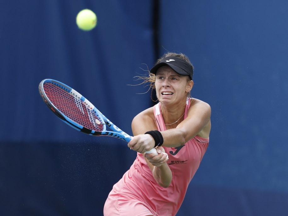 US Open 2020. Magda Linette po raz pierwszy wystąpiła w trzeciej rundzie turnieju na nowojorskich kortach Flushing Meadows /JASON SZENES    /PAP/EPA