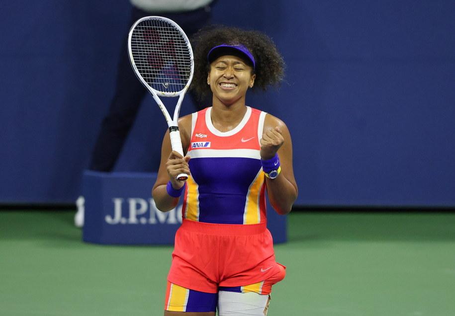 US Open: Trzeci wielkoszlemowy finał Naomi Osaki i drugi w Nowym Jorku /JUSTIN LANE /PAP/EPA