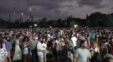 USA: Burza zwiastująca huragan Henry przerwała wielki koncert w Nowym Jorku