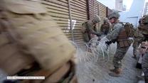 USA: Drut kolczasty na murze granicznym