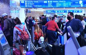 USA: Miliony pasażerów w samolotach podczas świątecznych podróży