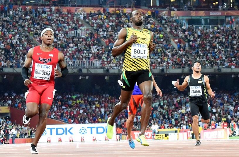 Usain Bolt finiszuje /AFP