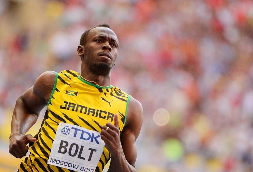 Usain Bolt na mecie biegu półfinałowego /AFP