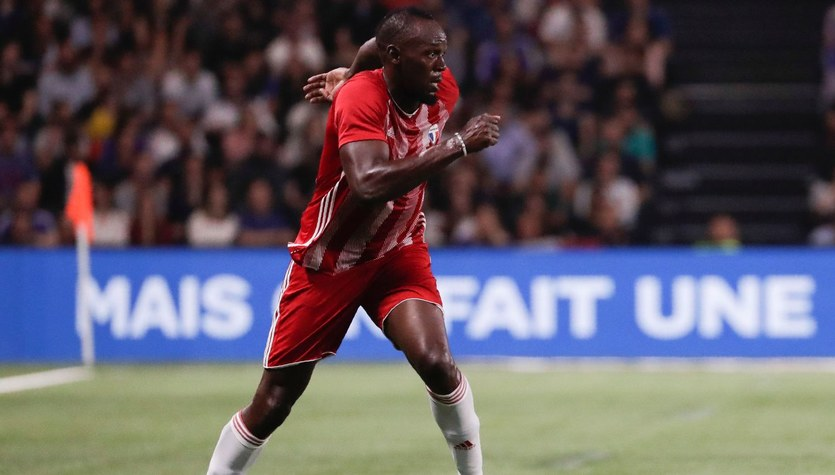 Usain Bolt nie porzuca marzeń o piłkarskiej karierze