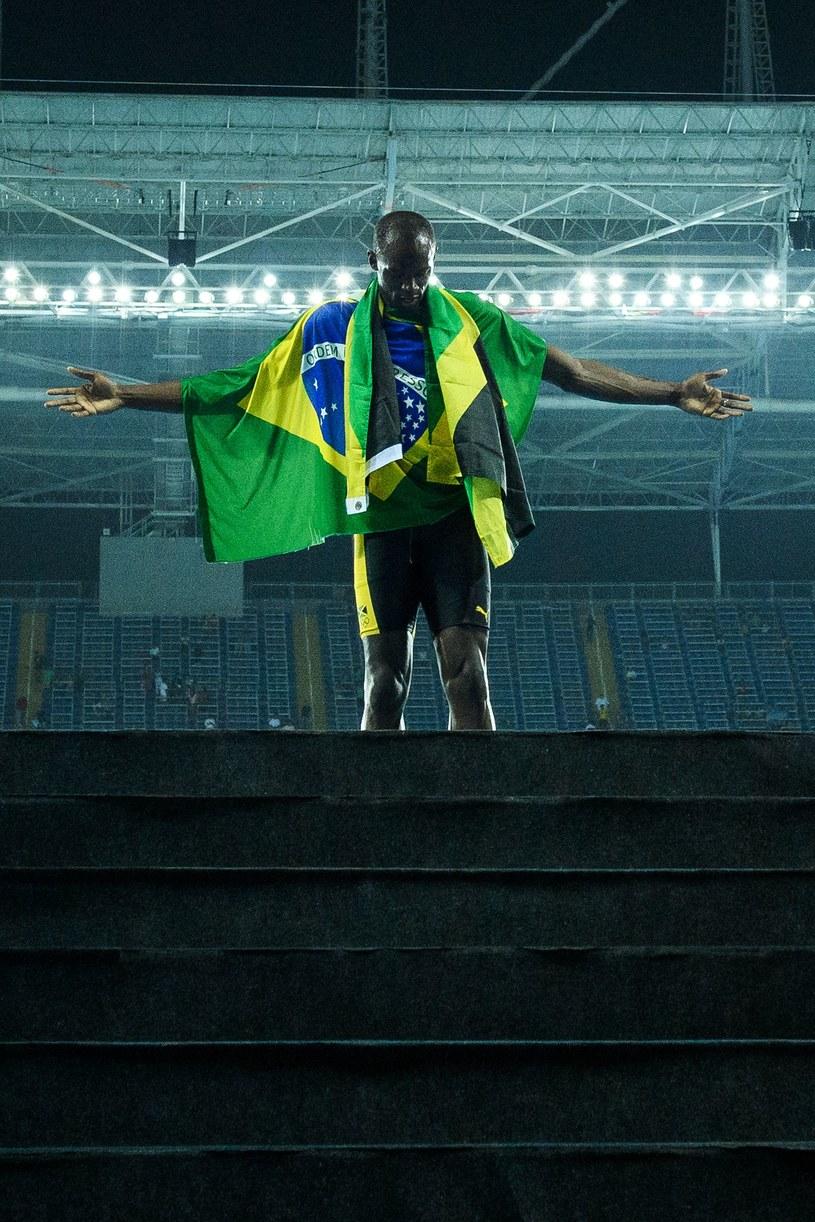 Usain Bolt po wygraniu swojego dziewiątego złotego medalu /AFP