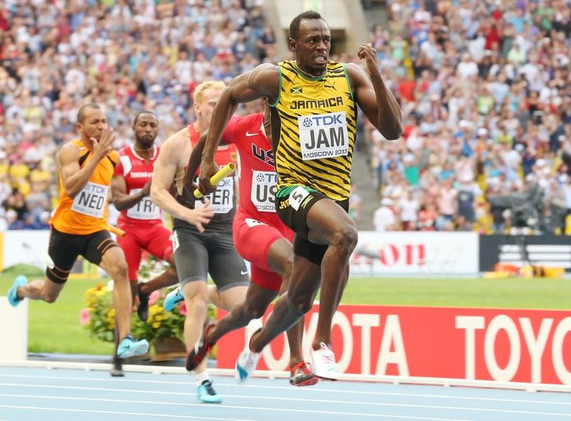 Usain Bolt pobiegł na ostatniej zmianie w jamajskiej sztafecie /AFP